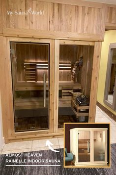 This beautifully installed Rainelle Indoor Sauna perfectly complements the look of our customer's room, instantly becoming a part of it! Love this sauna? Check more about it here! Indoor Sauna, Traditional Saunas, Low Humidity, How To Become