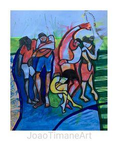 A Paz  Pintura de João Timane. Artista plástico Moçambicano.   Fb: JoaoTimaneArt
