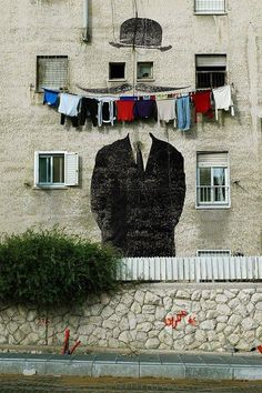 Funny street art is the best (Street Art - Clothing smile )