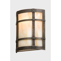 Steel Partners San Carlos Timber Ridge 1 Light Wall Sconce Shade Color: Bungalow Green, Finish: Rust