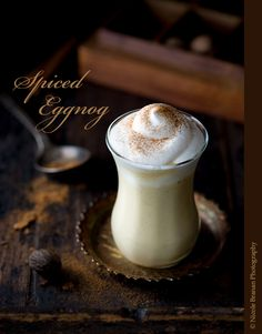 Spiced Eggnog with Whipped Cream, the real thing, Need to make this!