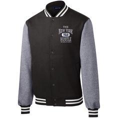new product 41e6e 3d70f The New York Hustle   Fleece Letterman Jacket