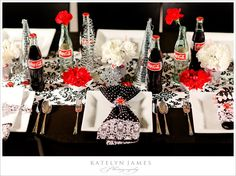 For a party with a twist, why not base it on your favourite cola? Check out our Coca-Cola Party Ideas for a fun and bubbly way to celebrate your Birthday. Coca Cola Wedding, Coca Cola Party, 50s Wedding, Wedding Reception, Wedding Ideas, Coca Cola Christmas, Coca Cola Bottles, Christmas Inspiration, Xmas Ideas