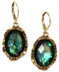 Iridescent: These Jones New York drop earrings make a statement without bruising your budget.