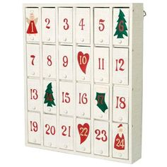 Wooden advent calendars are a wonderful way to countdown the days to Christmas. An advent calendar made of wood is a good option, especially for families Days Before Christmas, Christmas Time Is Here, Christmas Crafts, Christmas Decorations, White Christmas, Christmas Place, Homemade Crafts, Crafts To Make, Advent Box