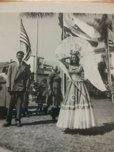 Vintage Costumed Woman with California Bear Flag | Bear Flag Museum