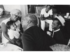 James Baldwin with painter Beauford Delaney.