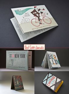 Illustrative and typographically beautiful maps