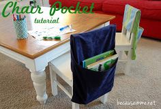 Because I'm Me: Chair Pocket / Seat Sack Tutorial