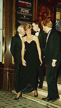 Diana leaves the English Opera House