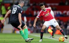 Manchester United 3 Stoke City 0: United's left back Cameron Borthwick-Jackson continues to grow in confidence