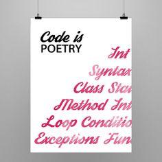 Code Is Poetry Print by Tech Studios | Tech Studios