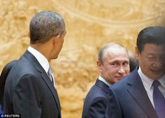 Can't keep his eyes off Obama: Putin offered his American counterpart another strange stare, Nov 2014.