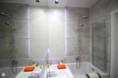 Amenajare moderna si luminoasa intr-un apartament de 39 mp- Inspiratie in amenajarea casei - www.povesteacasei.ro Alcove, Minimalism, Bathtub, Bathroom, Interior, Modern, Design, Standing Bath, Washroom