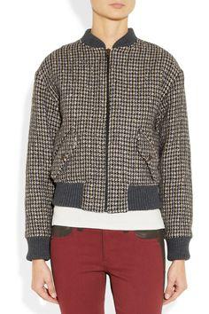 Paul & Joe|Ruby houndstooth bomber jacket|NET-A-PORTER.COM