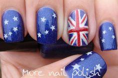 Aussie Flag Nails