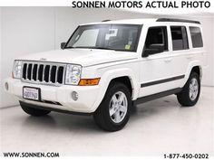 white jeep commander