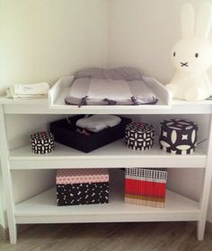 Table à langer - rangement graphiques - baby room girl