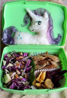 cartoon bento box my little pony rarity