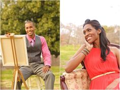 romantic & playful engagement photo shoot i helped style with Signature weddings and events