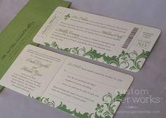 Boarding Pass Invitation, I love it...