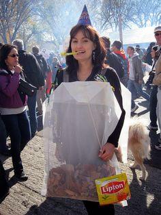 Tea bag diy costume