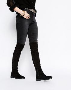 ASOS - KEEPER - Stivali piatti sopra il ginocchio