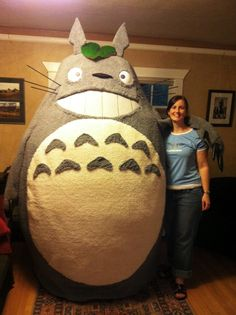 Totoro - A team from Portland, OR made this costume for Dragon*Con 2012. It was a huge hit!
