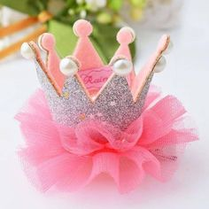 Baby Girls Princess Crown 1 pcs Cute Baby Girls Crown Princess Hair Clip Lace Pearl Shiny Star Headband Hairpins Hair Accessories the cheapest products Tiara Hairstyles, Princess Hairstyles, Baby Hair Clips, Baby Headbands, Headband Hair, Baby Crown Headband, Baby Tiara, Baby Girl Princess, Little Princess