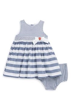 Little Me Nautical Dress & Bloomers (Baby Girls) available at #Nordstrom