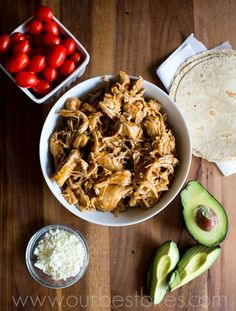 From Anne: Slow Cooker Taco Chicken- whole family loves it. This is very flavorful, but not spicy. Easy and very kid friendly