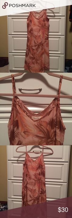 """⭐️SALE⭐️Tommy Bahama 100% Silk Lined Slip Dress Have a Luau Party this Summer? Here's the perfect dress! Soft as butter, gorgeous colors, flattering cut. Braided straps, bodice & back. !!WORN ONCE!! Like new!! 25""""L from underarm. Tommy Bahama Dresses Midi"""