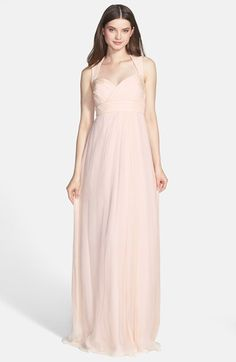 NOTE: I love this dress!  Def in the top picks!  Amsale Crinkled Silk Chiffon Gown available at #Nordstrom