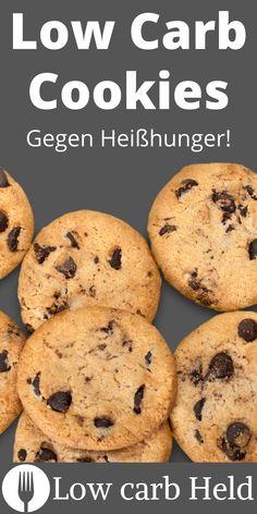 Mit diesem Rezept kannst du einfache und schnelle Low Carb Cookies zaubern. Probier es aus! Low Carb Cookies, Low Carb Desserts, Muffin, Breakfast, Food, Healthy Food, Oven, Losing Weight, Simple