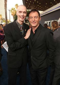 Doug Jones and Jason Isaacs attend the premiere of CBS's 'Star Trek Discovery' at The Cinerama Dome on September 19 2017 in Los Angeles California