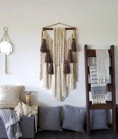 "24x55"" Large macramé wall hanging/ large woven wall hanging /Yarn wall hanging/yarn tapestry/Tassel wall hanging/large wall art"