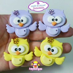 Polymer Clay Fairy, Polymer Clay Flowers, Polymer Clay Charms, Foam Crafts, Diy And Crafts, Fondant Animals Tutorial, Hairbow Center, Clay Fairy House, Clay Fairies