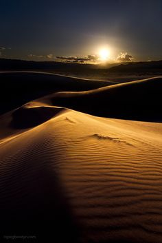 Sandset, by GreggB  Sunset over the Ibex Dunes, Death Valley NP, CA.