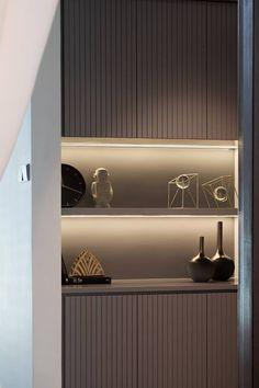 Untitled Foyer Design, Wall Design, House Design, Apartment Interior Design, Kitchen Interior, Built In Furniture, Home Furniture, Home Living Room, Living Room Designs