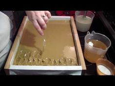 Making, Cutting & Stamping Aleppo Soap - YouTube