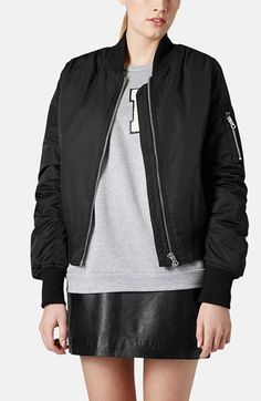 Topshop 'Boris' Bomber Jacket available at #Nordstrom