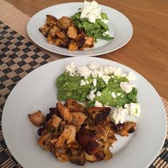 Spicy grilled chicken, with a simple guac and crumbled feta #MangiaBene #lowcarb #TalesFromNW
