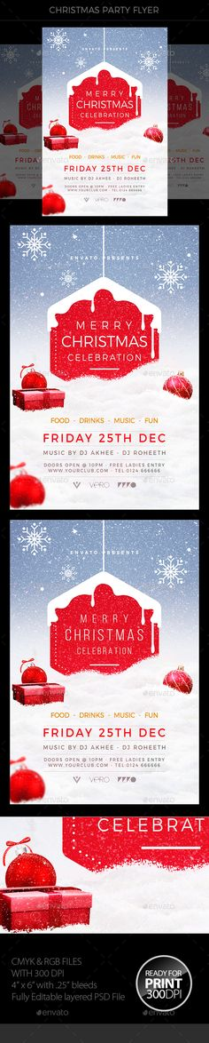 Christmas Flyer Template PSD #xmas