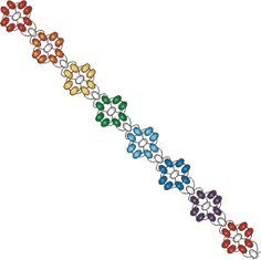 Free Pattern - Simple Flower Bracelet at Sova-Enterprises.com