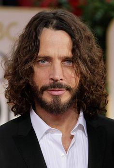 Death by Hanging himself Chris Cornell, Curly Hair Men, Curly Hair Styles, Feeling Minnesota, Beautiful Soul, Rock Music, Rock And Roll, Handsome, Celebs