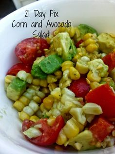 Become Ideal : Easy Clean Corn and Avocado Salad - 21 Day Fix Approved!