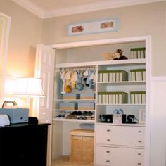 Great organized baby closet