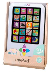 Mirari MyPad Toy, Navigate the fun lights, sounds, and phrases using the arrows.Mirari myPadThe durable play tablet features 20 colorful light-up images and 40 fun sounds and phrases that activate when children press t. Toddler Age, Toddler Toys, Baby Toys, Kids Toys, Children's Toys, Top Toys, Toddler Gifts, Kids Gifts, Special Needs Toys
