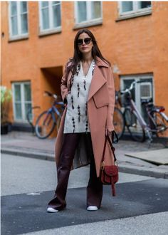 #fashion #style #outfit  #SylviaHaghjoo in By Malene Birger Pasinios coat and Decor top