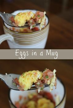 Eggs in a Mug Recipe on Having Fun Saving and Cooking.  Perfect easy recipe for busy mornings!
